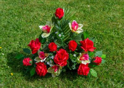 bouquet pyramide de roses rouges